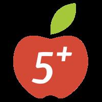 Пять с плюсом лого